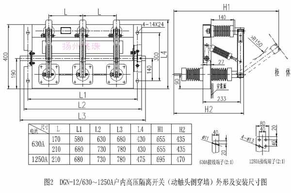 供应dgn-12小型化隔离开关